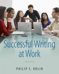 Successful Writing at Work 10th edition 9781111834791 1111834792
