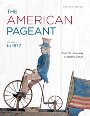 The American Pageant, Volume 1 15th edition 9781111831424 1111831424