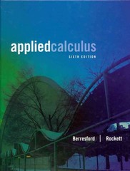 Applied Calculus 6th Edition 9781133103745 113310374X