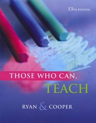 Those Who Can, Teach 13th Edition 9781111830281 1111830282
