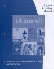 Student Activities Manual for A que si! 4th Edition 9781111838010 1111838011