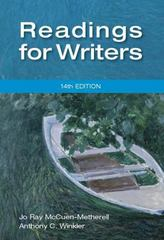 Readings for Writers 14th edition 9781111837068 1111837066