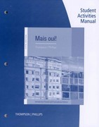 Student Activities Manual for Thompson/Phillips' Mais Oui!, 5th 5th Edition 9781111832704 1111832706