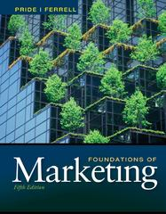 Foundations of Marketing 5th Edition 9781111580162 1111580162