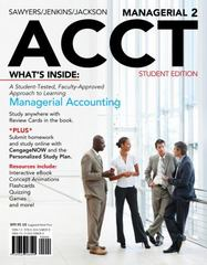 Managerial ACCT2 2nd Edition 9781111822699 1111822697