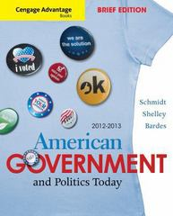 Cengage Advantage Books: American Government and Politics Today, Brief Edition, 2012-2013 7th edition 9781111832933 1111832935