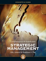 Strategic Management 10th edition 9781133708568 1133708560