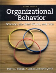 Organizational Behavior 8th Edition 9781111825867 1111825866