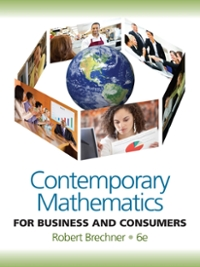 Contemporary Mathematics For Business and Consumers 6th edition 9780538481267 0538481269