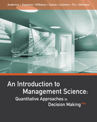 An Introduction to Management Science 14th Edition 9781305544666 1305544668