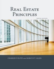 Real Estate Principles 10th Edition 9781427724885 1427724881