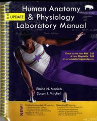 Human Anatomy & Physiology Laboratory Manual, Fetal Pig Version, Update 10th Edition 9780321830074 0321830075