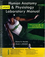 Human Anatomy & Physiology Laboratory Manual, Main Version, Update 9th Edition 9780321765604 0321765605