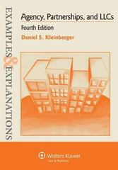 Agency, Partnerships, and LLCs 4th Edition 9781454802303 1454802308