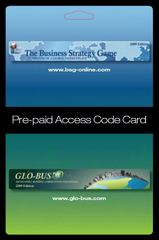 Business Strategy Game (BSG) Glo-Bus Pre-paid Access Code Card 2nd Edition 9780078112706 0078112702