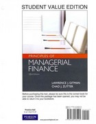 Principles of Managerial Finance, Student Value Edition 13th edition 9780132165105 0132165104