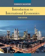 Introduction to International Economics 3rd edition 9780470934890 0470934891