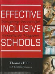 Effective Inclusive Schools 1st Edition 9781118133637 1118133633
