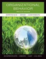 Organizational Behavior 12th Edition 9780470878200 0470878207