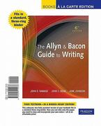 The Allyn & Bacon Guide to Writing, Books a la Carte Edition 6th edition 9780205114276 020511427X