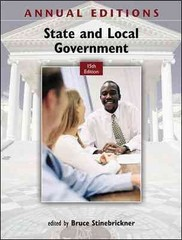 Annual Editions: State and Local Government, 15/e 15th edition 9780078051210 0078051215