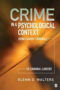 Crime in a Psychological Context 1st Edition 9781412996082 1412996082