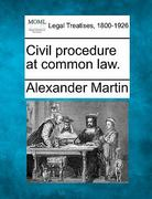 Civil procedure at common Law 0 9781240154777 1240154771