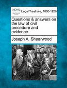 Questions and answers on the law of civil procedure and Evidence 0 9781240173747 1240173741