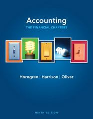 Accounting, Chapters 1-15 (Financial chapters) 9th edition 9780132569019 0132569019