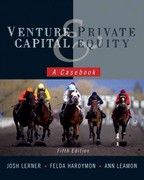 Venture Capital and Private Equity 5th Edition 9780470650912 0470650915