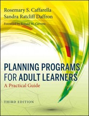 Planning Programs for Adult Learners 3rd Edition 9780470770375 0470770376