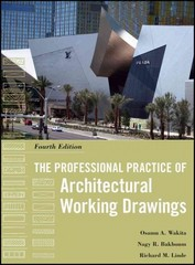 The Professional Practice of Architectural Working Drawings 4th Edition 9780470618158 0470618159
