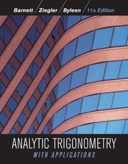 Analytic Trigonometry with Applications 11th Edition 9780470648056 0470648058