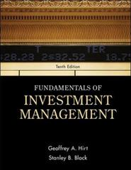 Fundamentals of Investment Management 10th edition 9780078034626 0078034620