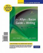 The Allyn & Bacon Guide to Writing, Brief Edition, Books a la Carte Edition 6th edition 9780205114306 020511430X