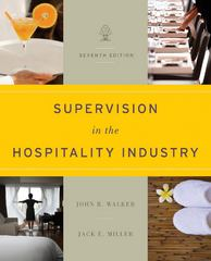 Supervision in the Hospitality Industry 7th edition 9781118071786 1118071786