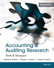 Accounting and Auditing Research 8th Edition 9781118806487 1118806484