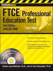 CliffsNotes FTCE Professional Education Test, with CD-ROM 2nd Edition 9781118014721 1118014723
