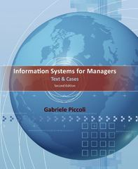 Information Systems for Managers 2nd Edition 9781118057612 1118057619