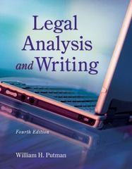 Legal Analysis and Writing 4th edition 9781133016540 1133016545