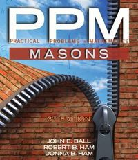 Practical Problems in Mathematics for Masons 3rd edition 9781285402123 128540212X