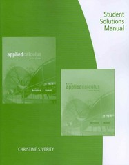Student Solutions Manual for Berresford/Rockett's Applied Calculus 6th edition 9781133104018 1133104010
