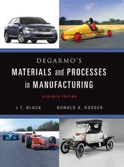 DeGarmo's Materials and Processes in Manufacturing 11th edition 9780470924679 0470924675