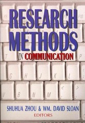 Research Methods in Communication 2nd Edition 9781885219411 1885219415
