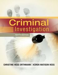 Criminal Investigation 10th Edition 9781133018926 1133018920