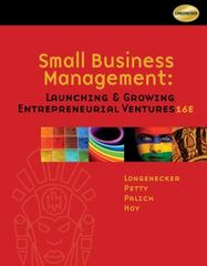 Small Business Management 16th edition 9781111532871 1111532877