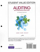 Auditing and Assurance Services, Student Value Edition 14th edition 9780132575966 0132575965
