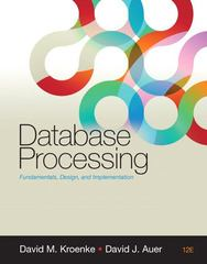 Database Processing 12th Edition 9780132145374 0132145375