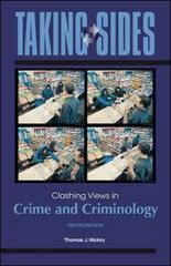 Taking Sides: Clashing Views in Crime and Criminology 10th edition 9780078050251 0078050251