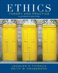 Ethics 11th Edition 9780205053148 0205053149